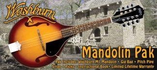 NEW Washburn M1K A Style Mandolin Package