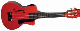 NEW Eddy Finn EF-PCRD Beach Master Red Concert Ukulele