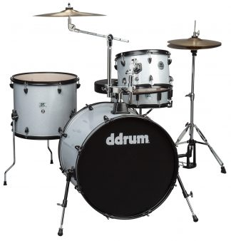 NEW Ddrum D2R-SILVER-SPKL 4 Piece Silver Sparkle Drum Set