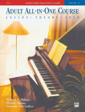 NEW Alfred (14514) Adult All-In-One Course Level 2 Piano Book