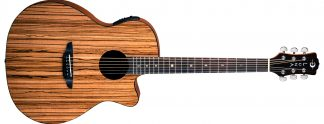 NEW Luna GYP E ZBR Acoustic Guitar