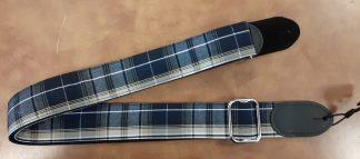 NEW LM (PL-2-T) Blue Plaid Guitar Strap
