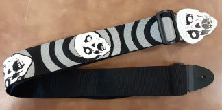 NEW LM (SKULL-END-1) Scream Skull Guitar Strap