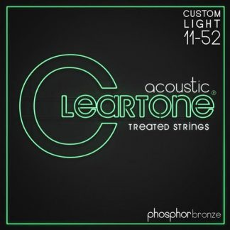 NEW Cleartone (7411) 11-52 Acoustic Guitar Strings