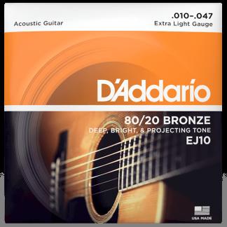 NEW D'Addario (EJ10) 10-47 Acoustic Guitar Strings