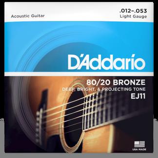NEW D'Addario (EJ11) 12-53 Acoustic Guitar Strings