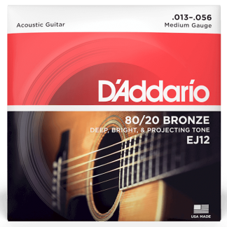 NEW D'Addario (EJ12) 13-56 Acoustic Guitar Strings