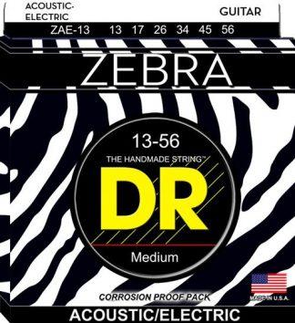 NEW DR (ZAE-13) 13-56 Zebra Acoustic Guitar Strings