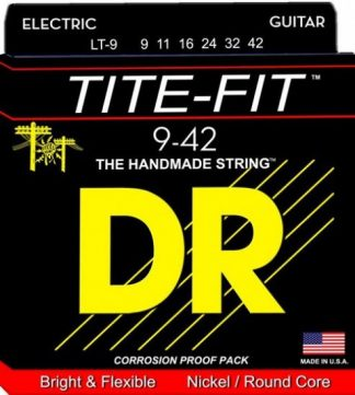 NEW DR (LT-9) 9-42 Tite-Fit Electric Guitar Strings