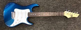 NEW AXL AS-750-3/4-MBL Metallic Blue Electric Guitar