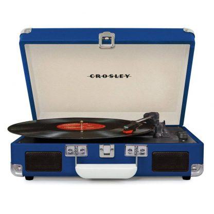 NEW Crosley (CR8005D-BL) Cruiser Deluxe Blue Turntable